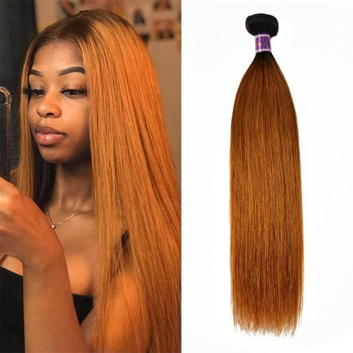 Incolorwig 1 Bundles Virgin #TB30 Straight Hair Bundles Human Hair Weave