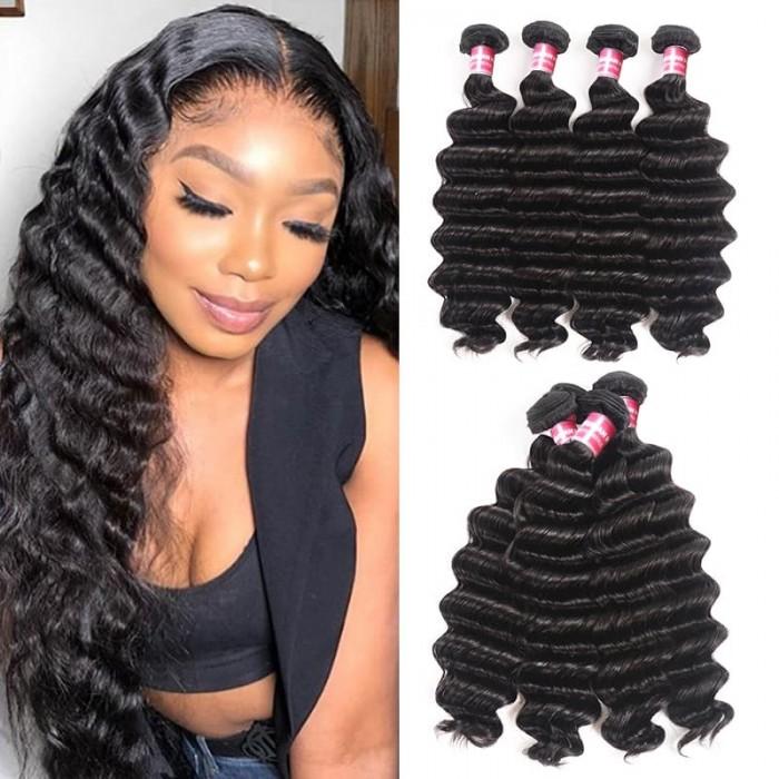 Incolorwig Loose deep Wave 100% Virgin Human Hair Weave 4 Bundles In Stock