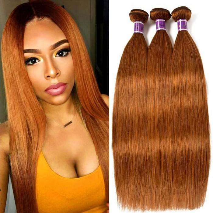 Incolorwig #30 Pure Color Straight Peruvian Hair Human Hair Weave 3 Bundles Deals