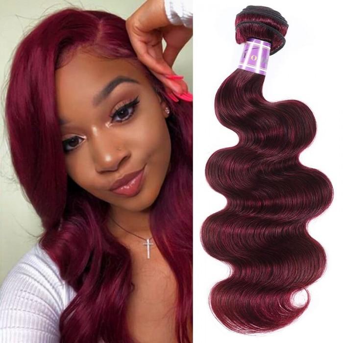 Incolorwig Highly Welcomed Human Hair Weave #99J Body Wave Hair Bundles 1 Bundle Deals