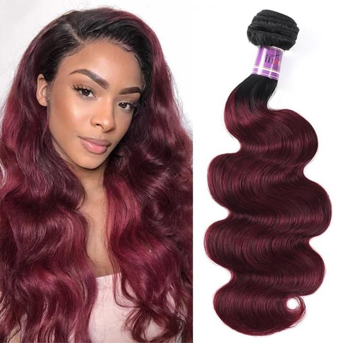 Incolorwig Pre-Colored Human Hair Weave #TB99J Body Wave Hair Bundles 1 Bundle Deals
