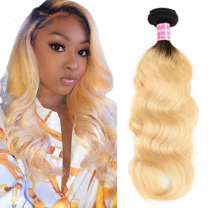 Incolorwig Trending Human Hair Weave #T1B613 Body Wave Hair Bundles 1 Bundle Deals