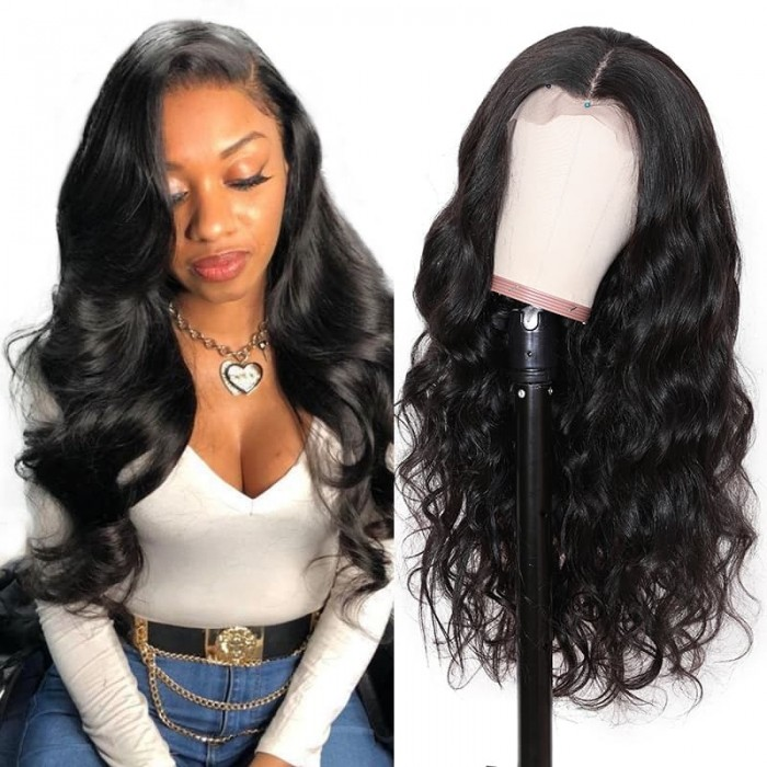 Incolorwig Body Wave Fake Scalp Lace Frontal Wig Glueless Wig Invisible Knots 150% Density