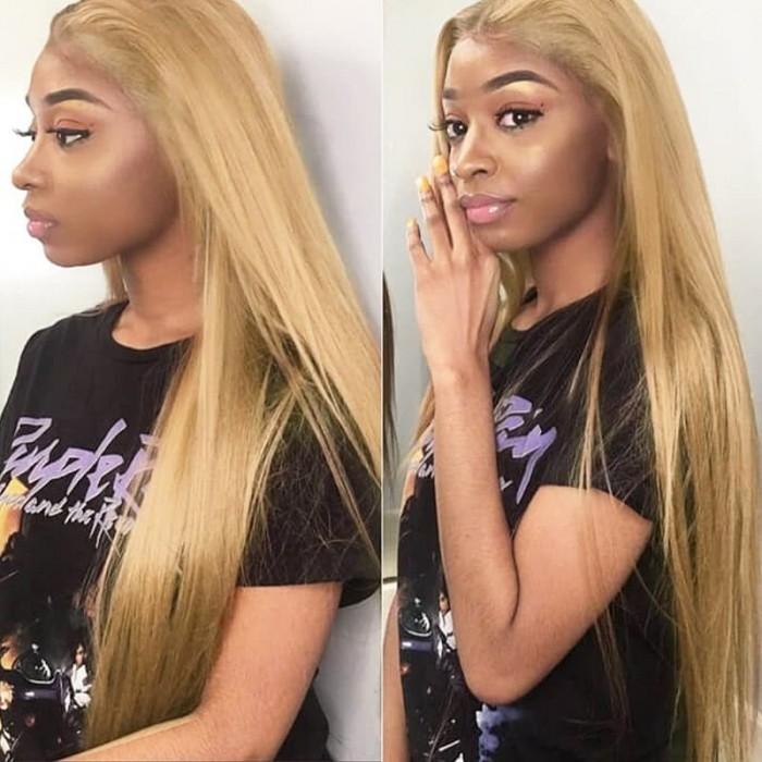 Incolorwig Hand-Picked Brazilian Straight #27 Honey Blonde 4 Bundles Human Hair Weave