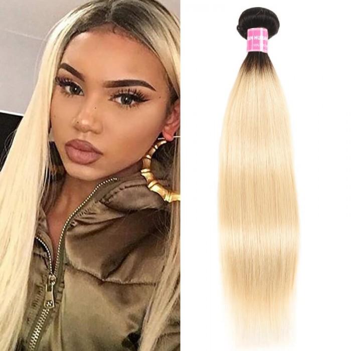 Incolorwig Resilient Virgin Human Hair Weave #T1B613 Straight Hair Bundles 1 Bundle Deals