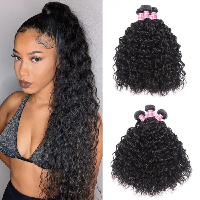 Incolorwig Water Wave 3 Pieces 100% Human Hair Bundles Natural Color For Sale