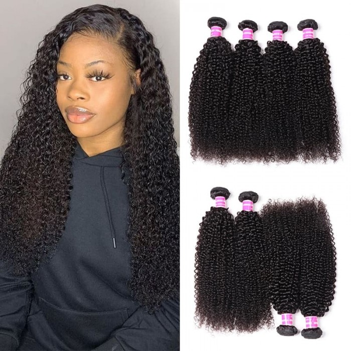Incolorwig High Quality Brazilian Kinky Curly Hair 4 Bundles Deals 100% Human Hair