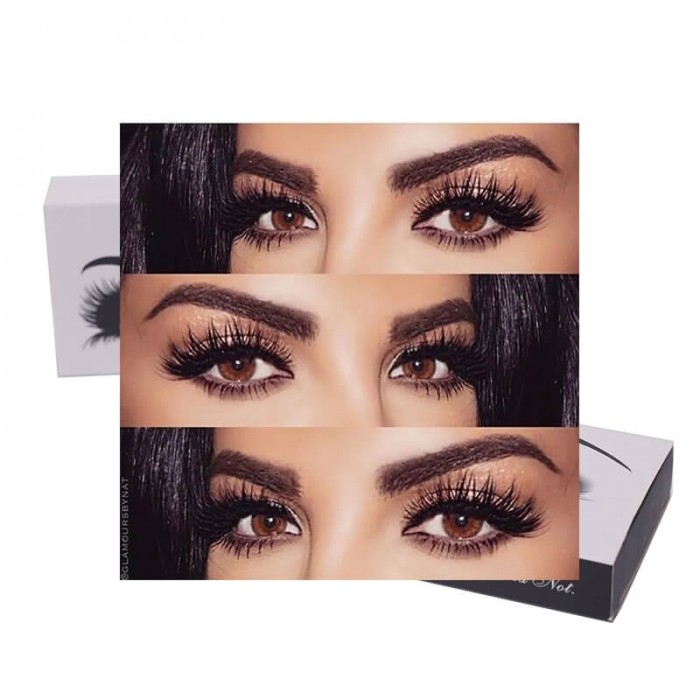 Incolorwig Natural Handmade Volume Soft Reusable Eyelashes 3D Mink Fur False Eyelashes 1 Pair Package