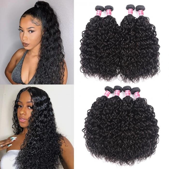 Incolorwig Special Brazilian Water Wave Unprocessed Virgin Human Hair Weave 4 Bundles