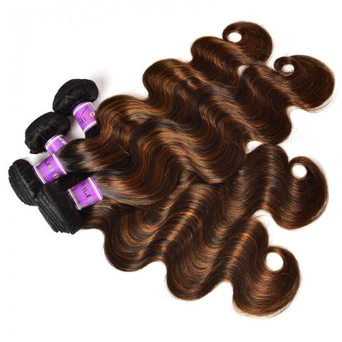 Incolorwig Virgin 4 Bundles Deals Peruvian Hair Weave #FB30 Body Wave Hair Weave