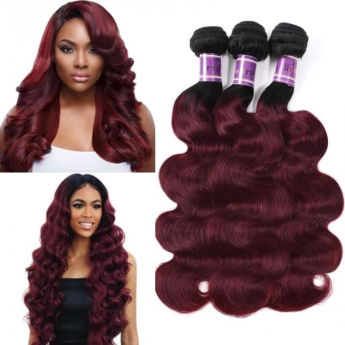 Incolorwig Quality Human Hair Weave 3 Bundles Peruvian Human Hair TB99J Body Wave Hair