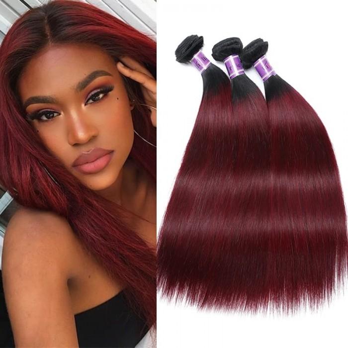Incolorwig Peruvian Human Hair #TB99J Straight Remy Human Hair Weave 3 Bundles Deals