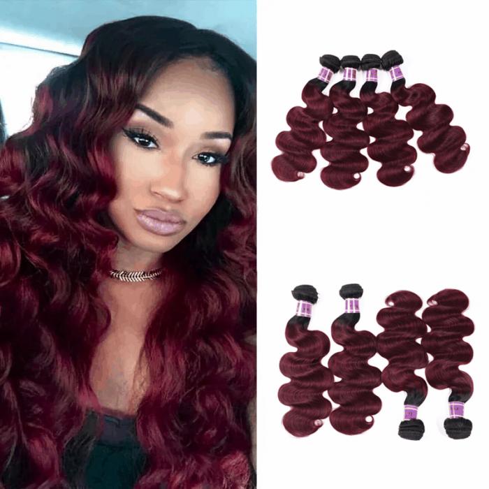 Incolorwig Salable Color #TB99J Body Wave Brazilian Hair Weave 4 Bundles Deals
