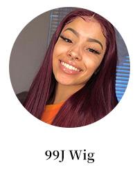 99j burgundy wig