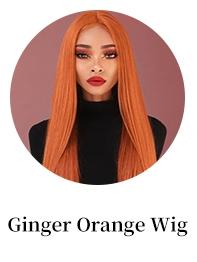 Incolorwig Ginger Color 88J Human Hair Wig