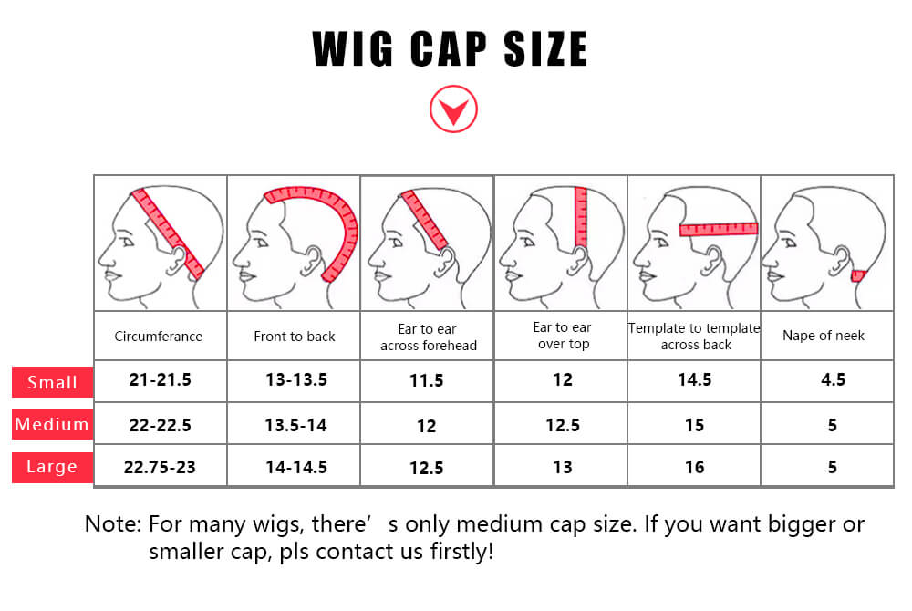 wig cap size how to measure