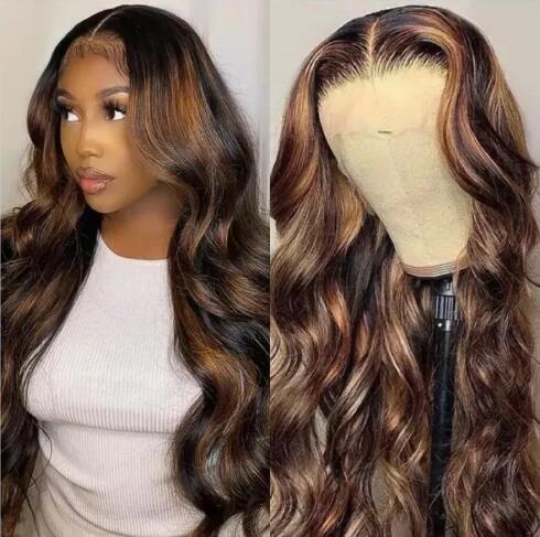 FB30 Brown Color Body Wave Wig