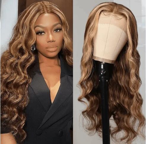 TL412 Honey Blonde Highlight Wig