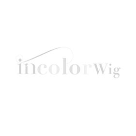 Incolorwig High Quality Human Straight Hair Wig 150% Density Natural Black Headband Wig